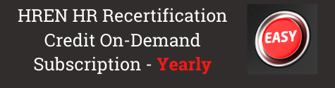 HREN HR Recertification Credit On-Demand Subscription Yearly