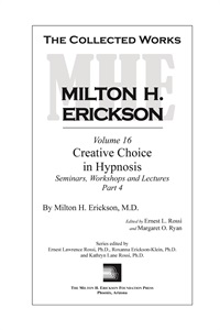 Image of The Collected Works of Milton H. Erickson: Volume 16 - Hardcover