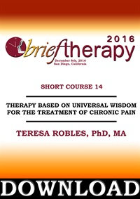 Image of BT16 Short Course 14 - Therapy Based on Universal Wisdom for the Treat