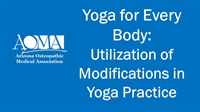 Image of Yoga for Every Body - Utilization of Modifications in Yoga Practice