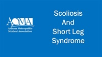 Image of Scoliosis and Short Leg Syndrome