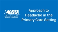 Image of Approach to Headache in the Primary Care Setting
