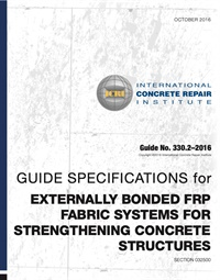 Image of 330.2-2016 - Guide Specifications for Externally Bonded FRP Fabric Sys