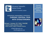 Image of Chronic Central Pain with Dysautonomia