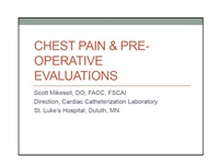 Image of Chest Pain & Pre-Operative Evaluations