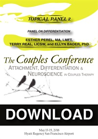 Image of CC16 Topical Panel 02 - Differentiation - Ellyn Bader, Esther Perel, a