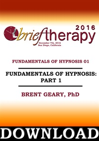 Image of BT16 Fundamentals of Hypnosis Part 01 - Brent Geary, PhD