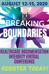 Image of 2020 Healthcare Documentation Integrity Virtual Conference (HDIVC20)