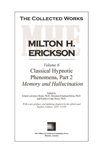 Image of The Collected Works of Milton H. Erickson: Volume 06 - Hardcover
