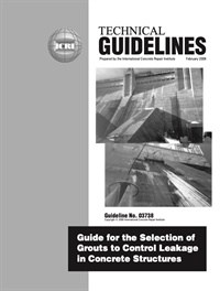 Image of 340.1-2006 (PDF) - Guideline for Selecting Grouts to Control Leakage i