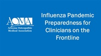 Image of Influenza Pandemic Preparedness for Clinicians on the Frontline