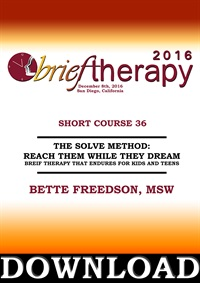 Image of BT16 Short Course 36 - The Solve Method: Reach Them While They Dream: