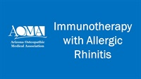 Image of Immunotherapy with Allergic Rhinitis
