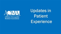 Image of Updates in Patient Experience