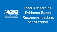Image of Food is Medicine: Evidence-Based Recommendations for Nutrition