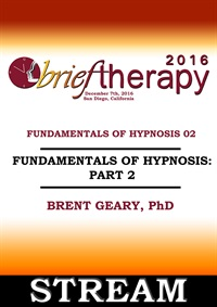 Image of BT16 Fundamentals of Hypnosis Part 02 - Brent Geary, PhD