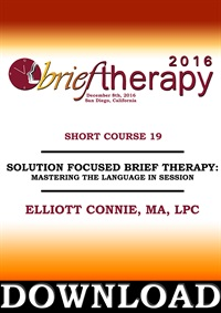 Image of BT16 Short Course 19 - Solution Focused Brief Therapy: Mastering the L