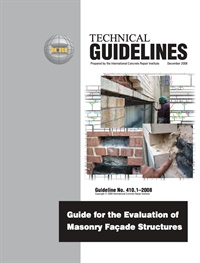 Image of 410.1-2008 (PDF) - Guide for the Evaluation of Masonry Façade Structur