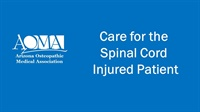 Image of Care for the Spinal Cord Injured Patient