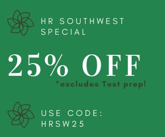 HR Southwest Special 25% off excludes test prep use code HRSW25