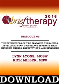 Image of BT16 Dialogue 6 - The Experiences of Two Seasoned Therapists: Developi