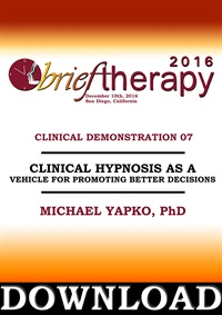 Image of BT16 Clinical Demonstration 07 - Clinical Hypnosis as a Vehicle for Pr