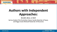 Image of Authors with Independent Approaches: Benefit, Bane or Both?