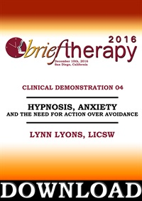 Image of BT16 Clinical Demonstration 04 - Beyond Calming Down: Hypnosis, Anxiet