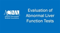 Image of Evaluation of Abnormal Liver Function Tests