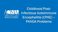 Image of Childhood Post-Infectious Autoimmune Encephalitis (CPAE) - PANDA Probl