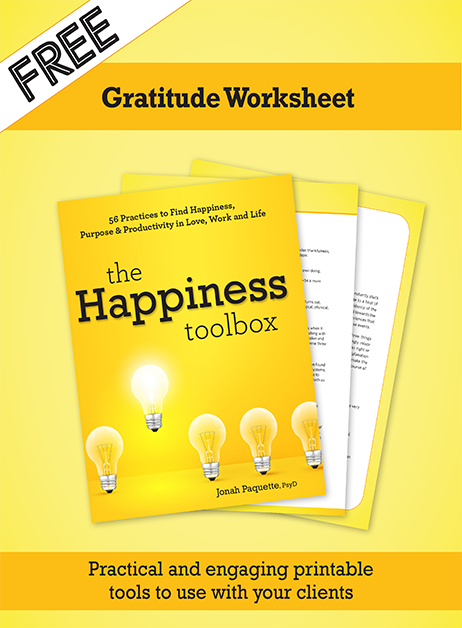 Happiness Toolbox Gratitude Worksheet cover