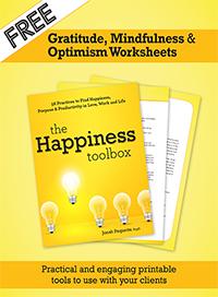 Gratitude, Mindfulness, and Optimism Worksheets