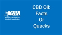 Image of CBD Oil: Facts or Quacks
