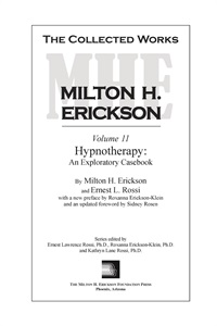 Image of The Collected Works of Milton H. Erickson: Volume 11 - Hardcover: Hypn