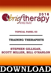 Image of BT16 Topical Panel 3 - Training Therapists - Stephen Gilligan, Scott M