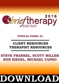 Image of BT16 Topical Panel 1 - Client Resources Therapist Resources - Steve Fr