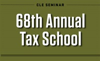 Image of 68th Annual Tax School