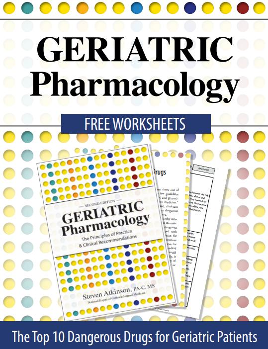 Geriatric Pharmacology Worksheets