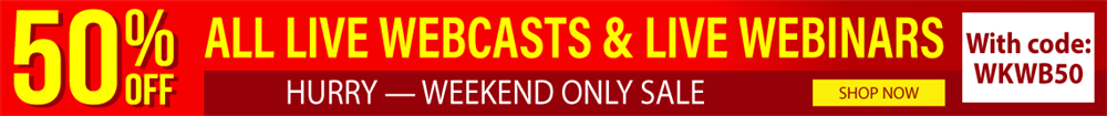 Extended Webcast Sale!