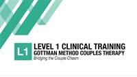 GOTTMAN METHOD COUPLES THERAPY CLINICAL TRAINING: Official Certification Training Level 1 – Bridging the Couple Chasm. (Melbourne) 2