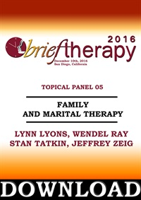 Image of BT16 Topical Panel 5 - Family and Marital Therapy - Lynn Lyons, Wendel
